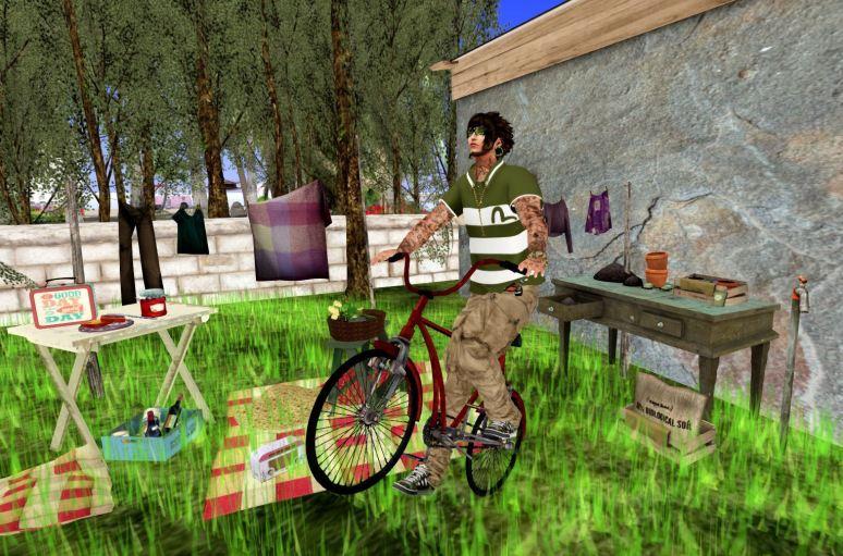 his bike